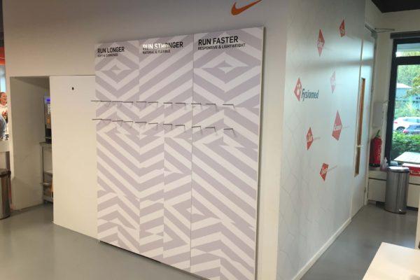 Nike schoenenwand