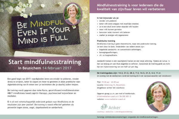 Mindfulness flyer