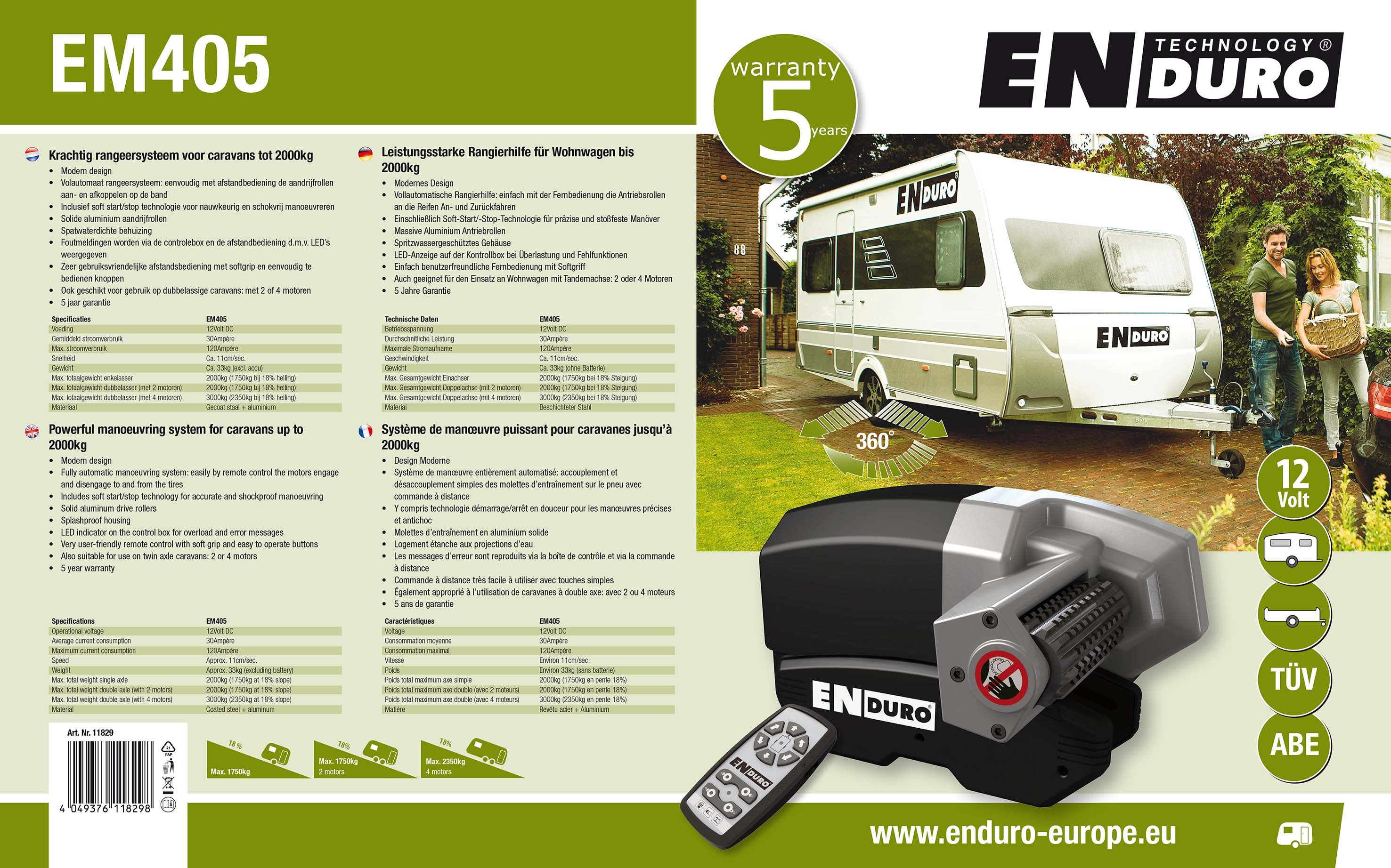 Enduro ontwerp verpakkingslabels