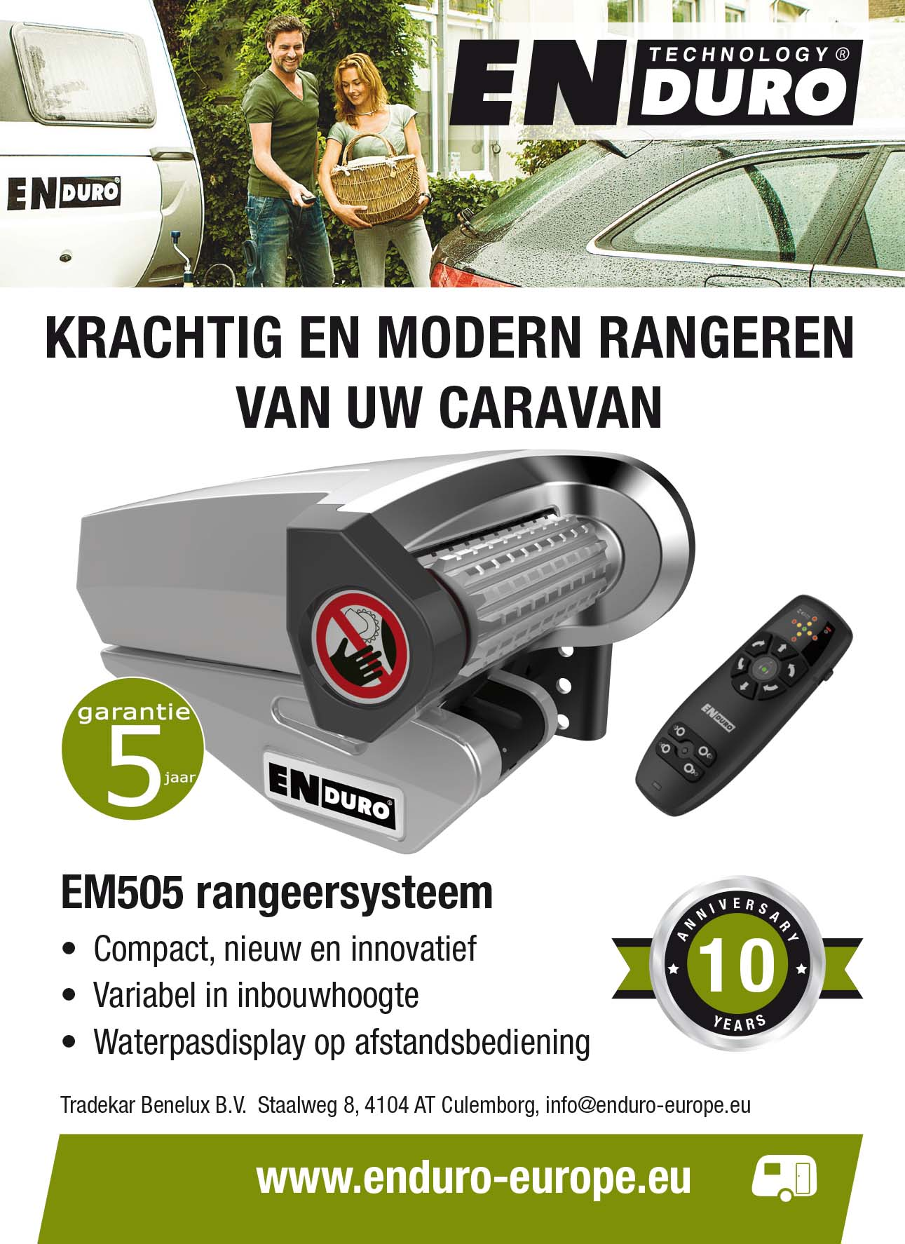Enduro ontwerp advertenties